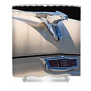 1956 Chrysler Soaring Falcon Hood Ornament Shower Curtain