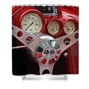 1956 Corvette Dashboard Shower Curtain