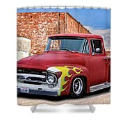 1956 Ford F100 'brickyard' Pickup Shower Curtain