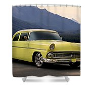 1956 Ford Fairlane Club Coupe Shower Curtain