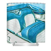 1956 Ford Fairlane Convertible 1 Shower Curtain