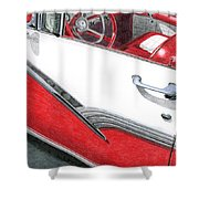 1956 Ford Fairlane Convertible 2 Shower Curtain