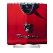1956 Ford Fairlane Hood Ornament 2 Shower Curtain