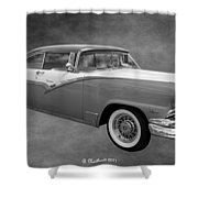 1956 Ford Fairlane Victoria Shower Curtain