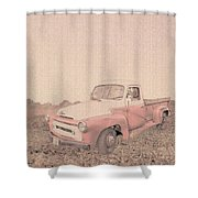 1956 Ford S120 International Truck Shower Curtain