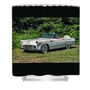 1956 Ford Thunderbird Shower Curtain
