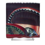 1956 Ford Thunderbird Speedometer - Steering Wheel -0714c Shower Curtain