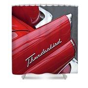 1956 Ford Thunderbird Taillight Emblem 2 Shower Curtain