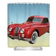 1956 Jaguar Xk 140 Mc Shower Curtain