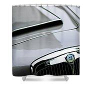 1956 Lancia Aurelia B24 Convertible Hood Emblem Shower Curtain