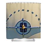 1956 Lincoln Continental Emblem Shower Curtain