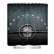 1956 Lincoln Continental Mark II Coupe Emblem -2079ac Shower Curtain