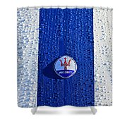 1956 Maserati 350 S Hood  Emblem 2 Shower Curtain
