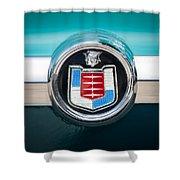1956 Mercury Monterey Emblem Shower Curtain