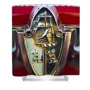 1956 Plymouth Belvedere Emblem 2 Shower Curtain