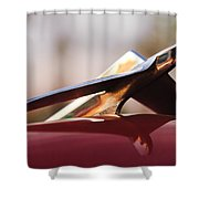 1956 Plymouth Belvedere Hood Ornament Shower Curtain