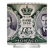 1956 Princess Grace Of Monaco Stamp II Shower Curtain