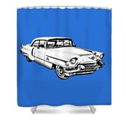 1956 Sedan Deville Cadillac Car Illustration Shower Curtain