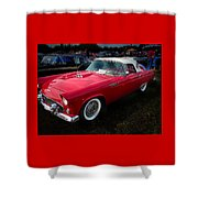 1956 Tbird Shower Curtain