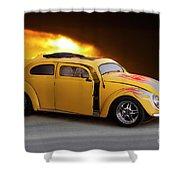 1956 Vw 'hot Rod' Bug II Shower Curtain