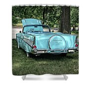 1957 Bel Air  Blue Convertible  Shower Curtain