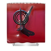 1957 Buick Hood Ornament  Shower Curtain