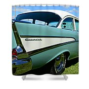 1957 Cheverolet Shower Curtain