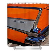 1957 Chevrolet Belair Coupe Tail Fin Shower Curtain