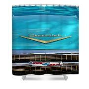 1957 Chevrolet Belair Grille 2 Shower Curtain