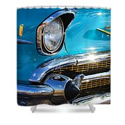 1957 Chevrolet Belair Grille Shower Curtain