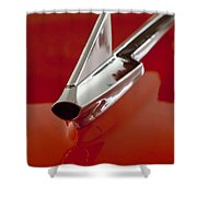 1957 Chevrolet Cameo Pickup Hood Ornament Shower Curtain