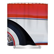 1957 Chevrolet Corvette Convertible Front End Shower Curtain