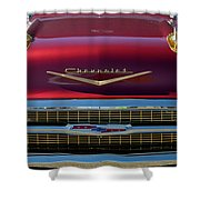 1957 Chevrolet Grille Shower Curtain