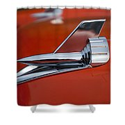 1957 Chevrolet Hood Ornament Shower Curtain