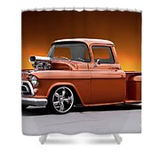 1957 Chevrolet Stepside Pickup L Shower Curtain