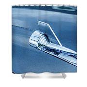1957 Chevy Bel Air Hood Ornament Shower Curtain