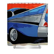 1957 Chevy Bel Air Shower Curtain