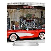 1957 Corvette Hackberry Arizona Shower Curtain