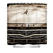 1957 Ford Custom 300 Series Ranchero Grille Emblem -0465s Shower Curtain