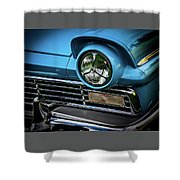 1957 Ford Detail Shower Curtain