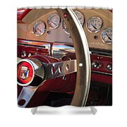 1957 Ford Fairlane Steering Wheel Shower Curtain