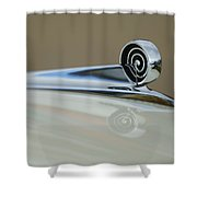 1957 Ford Hood Ornament Shower Curtain