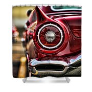 1957 Ford Thunderbird Red Convertible Shower Curtain