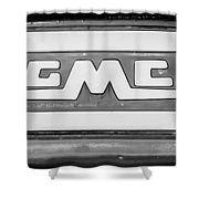 1957 Gmc Pickup Truck Tail Gate Emblem -0272bw2 Shower Curtain