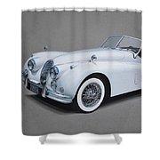 1957 Jaguar Xk140 Shower Curtain