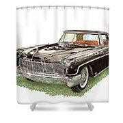 1957 Lincoln Continental Mk II Shower Curtain