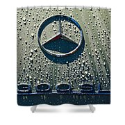 1957 Mercedes Benz 300sl Roadster Emblem Shower Curtain by Jill Reger