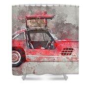 1957 Mercedes Gullwing Shower Curtain