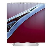 1957 Oldsmobile Hood Ornament 2 Shower Curtain