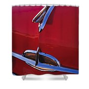 1957 Oldsmobile Hood Ornament 4 Shower Curtain